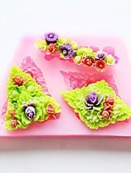 Недорогие -цветок выпечки помадка торт шоколадные конфеты плесень, l8.7cm * w5.2cm * h1.1cm
