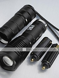 cheap -5 LED Flashlights / Torch LED 1000 lm 5 Mode LED Adjustable Focus Impact Resistant Nonslip grip Rechargeable Camping/Hiking/Caving