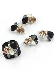Недорогие -5шт 3d черный циркон сплав ногтей украшения ногтей ювелирные изделия