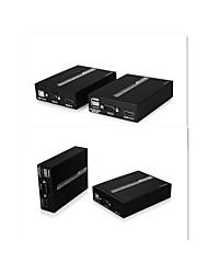 adaptador HDMI extensor cabo repetidor por cabos único cat5 cat5e cat6, 50m balun1080p hd, utp ethernet 3d, edid, IR, o KVM