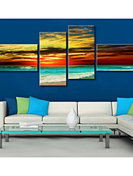 cheap -Stretched Canvas Art Beautiful Seaside Landscapes Set of 4