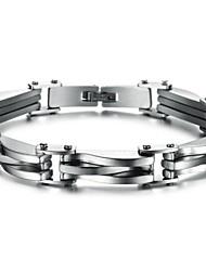 baratos -z&x® personalidade da moda de jóias pulseira de aço titânio masculino