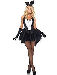 Coniglietta Costumi Cosplay Vestito da Serata Elegante Donna Halloween Feste/vacanze Costumi Halloween Nero Collage