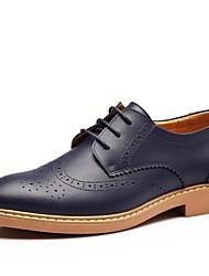 Masculino sapatos Couro Primavera Verão Outono Inverno Conforto Oxfords Cadarço Para Casual Preto Marrom Azul Amarelo