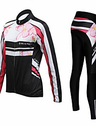 Realtoo Cycling Jersey with Tights Women's Long Sleeves Bike Clothing Suits Thermal / Warm Quick Dry Moisture Permeability Breathable