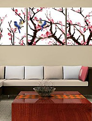 cheap -Stretched Canvas Print Art Landscape Charactizing A Fine Spring Set of 3