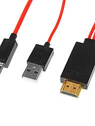 2m 6.5FT Galaxie s3 s4 MHL zum Adapter-Kabel HDMI-