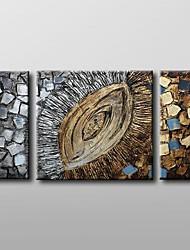 billige -Hang-Painted Oliemaleri Hånd malede - Abstrakt Klassisk Lærred