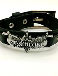 Jewelry Inspired by LOL Cosplay Anime/ Video Games Cosplay Accessories Bracelet Black Alloy / PU Leather Male