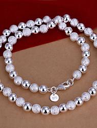 vilin argent collier de perles des femmes