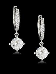 billige -Dame Kvadratisk Zirconium Messing Forgyldt sølv Uregelmæssig Smykker Kostume smykker