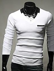 thaihoo em torno do pescoço t-shirt cor sólida dos homens