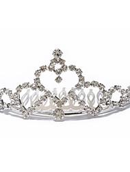 abordables -boda aro tiara casco personalizado pelo circonio cúbico