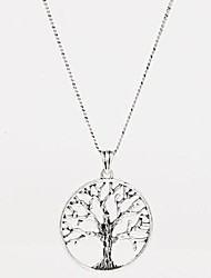 cheap -Women's Tree of Life Pendant Necklace  -  Friendship Fashion Silver Necklace For Party Birthday Thank You