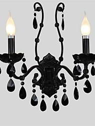 preiswerte -Black crystal wall lamp