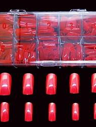 Недорогие -500 шт большие красные ложные полные советы ногтей покрыть украшение для пальца акриловых советы
