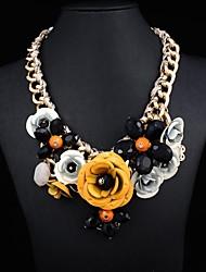 Women's metal Flower Luxury Necklace