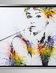 cheap -Framed Canvas Art, Color splashes Audrey Hepburn with Stretched Frame