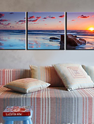 cheap -Stretched Canvas Print Landscape Modern Traditional, Three Panels Canvas Horizontal Print Wall Decor Home Decoration