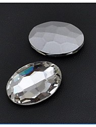 abordables -30*20MM Fashion Cellphone Beauty Oval Transparent Acrylic Faceted Sticky Rhinestones Gems(5 Pcs)