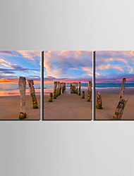 Toiles Art Paysage Paysage de plage Set de 3