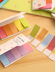couleurs arc-en-gradient de doubles côtés de scrapbooking de notes autocollantes
