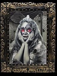 economico -Voice Control Luminous Color Child Giant Magic Picture Frame for Halloween(1 Pc)