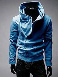 mænds koreanske stil ensfarvet Bassic monteret blazer (kaffe, grå, sort, blå)