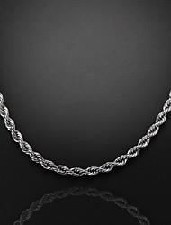 Недорогие -56см, 7 мм, посеребренная Figaro цепь мужская водоворот цепи ожерелье, непросто увядает