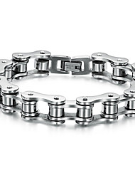 cheap -Men's Chain Bracelet - Stainless Steel Personalized, Unique Design, Punk Bracelet Silver / Silver / Black For Wedding / Party / Daily