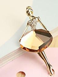 cheap -Lucky Doll  Diamonade Gemstone & Crystal Zirconia ballet girl Brooch