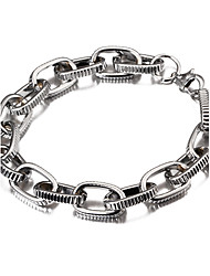 cheap -Width 1cm,Silver Plated Fashion Popular Cheap Strip Carved Figaro Chain Bracelet Christmas Gifts