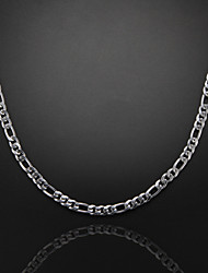 cheap -Others Silver Plated Chain Necklace  -  Unique Design Fashion Silver Necklace For Christmas Gifts Party Gift