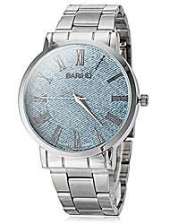 cheap -Men's Quartz Wrist Watch Hot Sale Stainless Steel Band Charm Dress Watch Silver