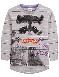 Mädchen T-Shirt Baumwolle Winter / Frühling / Herbst Grau