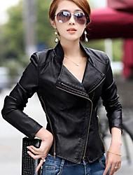 estilo coreano casaco de couro pu magro das mulheres das senhoras