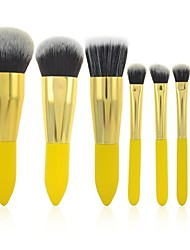 Make-up For You® 8Pcs Makeup Brushes set  Limits bacteria Lemon Yellow Shadow/Blush/Lip/Powder/Foundation/Brow Brush Cosmetic Makeup Kit