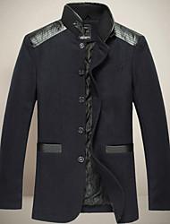 Недорогие -chunzheng Мужская мода воротник стойка Bodycon шерстяное пальто