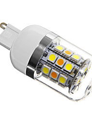 billige -280 lm G9 LED-kolbepærer T 31 leds SMD 5050 Naturlig hvid AC 220-240V