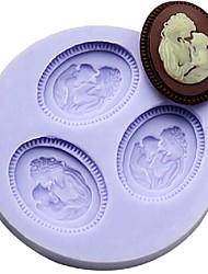 economico -madre e figlio fondente torta al cioccolato resina argilla muffa della caramella del silicone, l6m * w6cm * h1cm