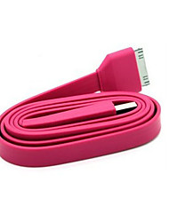 USB2.0 Datakabel til iPad iPhone og iPod Flat Type Pink (1.0m)