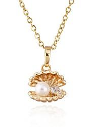 Недорогие -женская милый дизайн 18k позолоченный кубического циркона ожерелье d0283