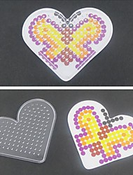 cheap -1PCS Template Clear Pegboard Loving Heart for 5mm Hama Beads Perler Beads Fuse Beads