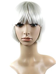 Capless Mix Color Short High Quality Natural Straight Hair Synthetic Wigs with Full  Bang