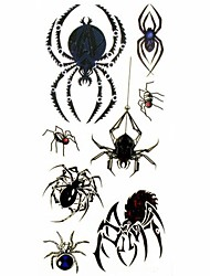 1pc Animal Spider Style Waterproof Tattoo Sample Mold Temporary Tattoos Sticker for Body Art(18.5cm*8.5cm)