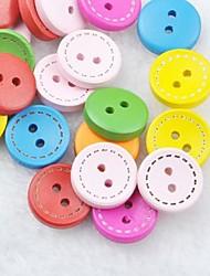 colorata scrapbook scraft cucire bottoni in legno fai da te (10 pz colore casuale)