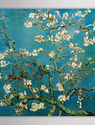 cheap -Canvas Print Paintings Almond Branches in Bloom San Remyc.1890 by Vincent Van Gogh Hand-Painted Ready to Hang