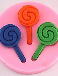 Lollipop Fondant Cake Chocolate Silicone Mold Cake Decoration Tools,L4.9cm*W4.9cm*H0.8cm