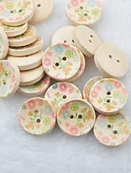 Недорогие -цветок рисунок записки scraft швейные DIY Деревянные кнопки (10 шт)