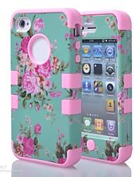 Недорогие -Кейс для Назначение iPhone 4/4S Apple Чехол Мягкий Силикон для iPhone 4s/4